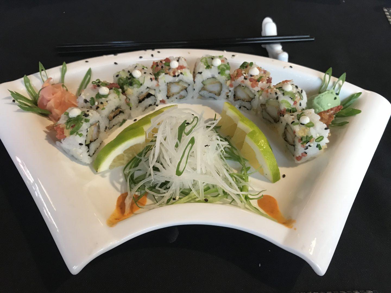 prawn tempura sushi yaki zushi
