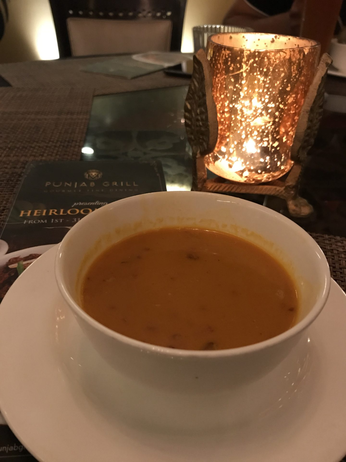 murgh shorba garlic barley soup punjab grill