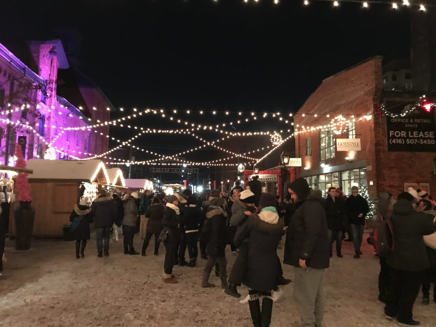 christmas market lights toronto