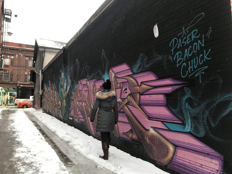 canada winter graffiti