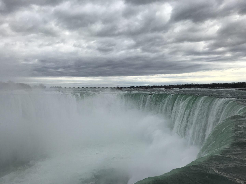 misty niagara falls