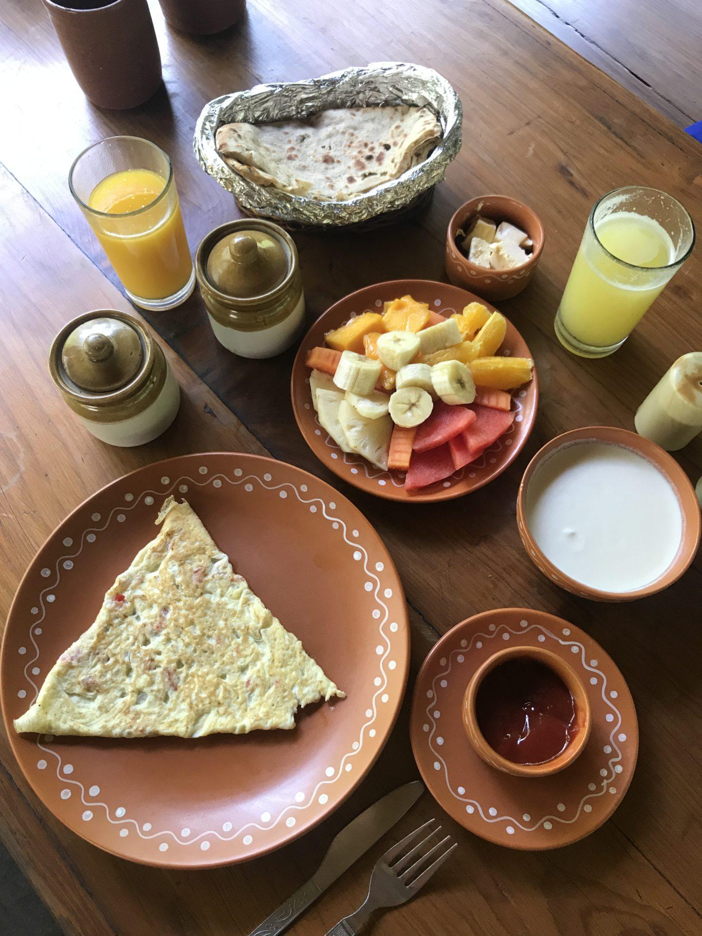 breakfast the himalayan village