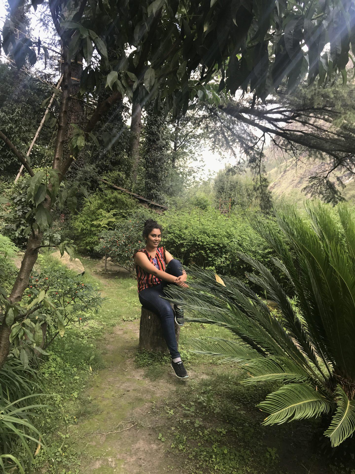 walking around the himalayan village