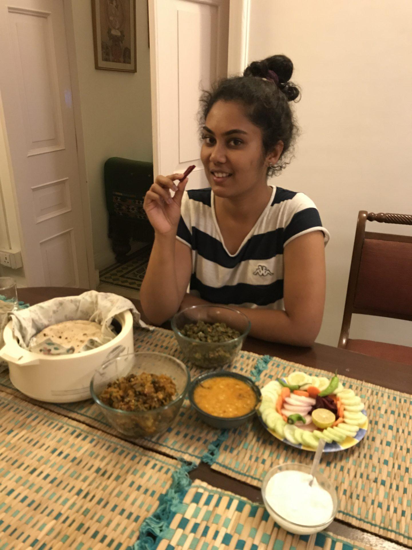 food at jyoti niwas palampur