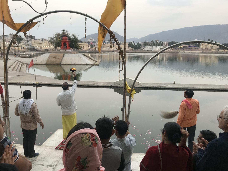 pushkar ghat aarti